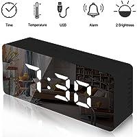 Lambony Reloj Despertador con Espejo Digital con Pantalla