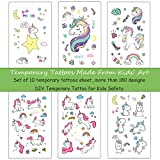 Ooopsi Unicorn Temporary Tattoos for Kids - More