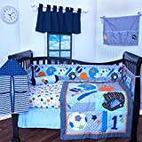 12 Pcs Crib Bedding Nursery set ALL STAR SPORTS baby boy bumper included soft and cute