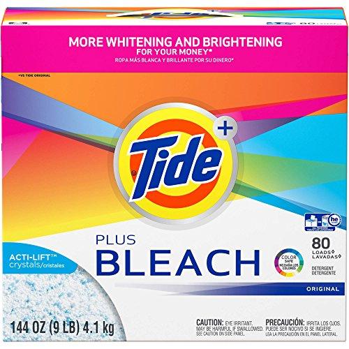 Tide Ultra Plus Bleach Original Scent Powder Laundry Detergent, 80 loads, 144 oz