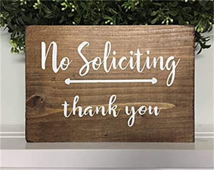 onepicebest grey and white lettering no soliciting sign no soliciting no soliciting door sign