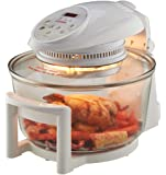 Cooks Professional Electric Halogen Oven with Hinged Lid, 17L Capacity, Self Cleaning & Timer Functions, 8 Accessories (White)