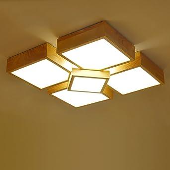 Im Minimalistischen Stil Mit Hellen Holzmöbeln Modern Holz  Lampen Creative  Wohnzimmer Led Japanische Echtholz Nordic