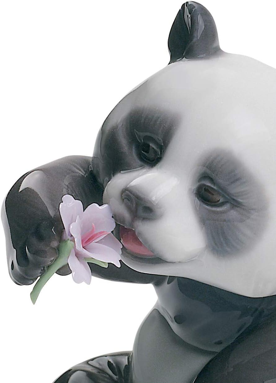 LLADR A Cheerful Panda Figurine. Porcelain Panda Figure.