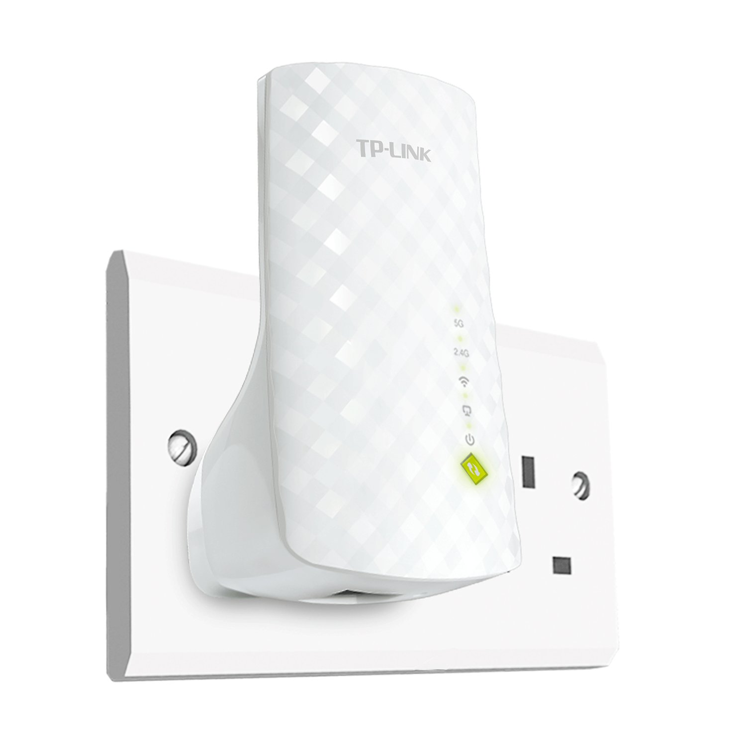 TP-Link RE200 AC750 Universal Dual Band Range Extender Plug and Play UK Plug Wi-Fi Booster//Hotspot with Ethernet Port Smart Signal Indicator Broadband//Wi-Fi Extender