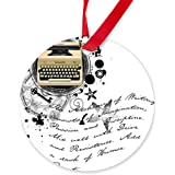 CafePress - Writer2.Png - Round Ornament