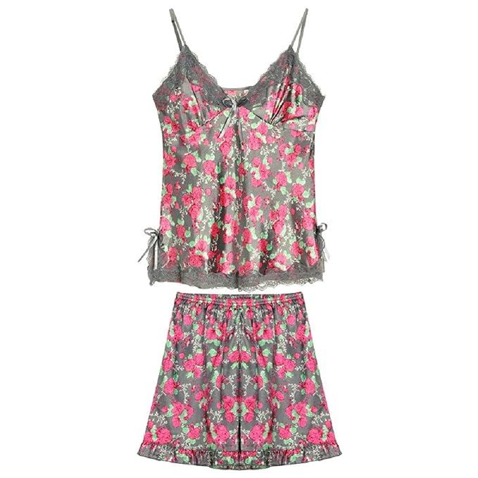 Mmllse Pijamas De Verano De Dos Piezas De Mujer Sling Shorts Servicio A Domicilio Seda Sexy: Amazon.es: Ropa y accesorios