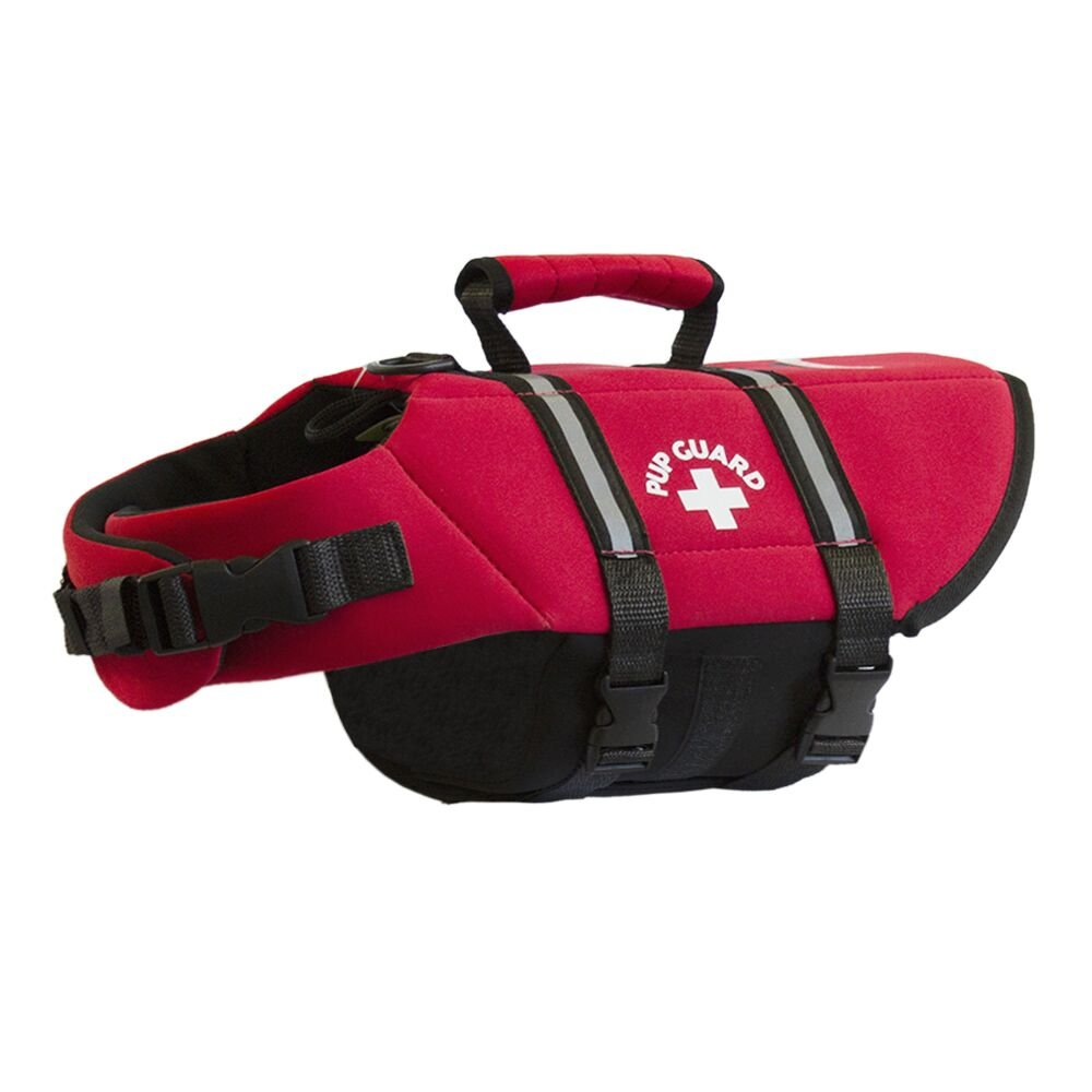 Travelin K9 Premium Red Neoprene Dog Life Jacket, Reflective, Bouyant (Small 18-23 chest)