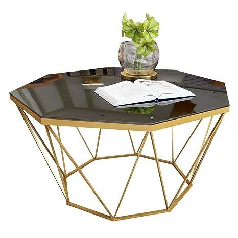 Table Basse De Luxe Légère Ronde Matériau En Verre Trempé