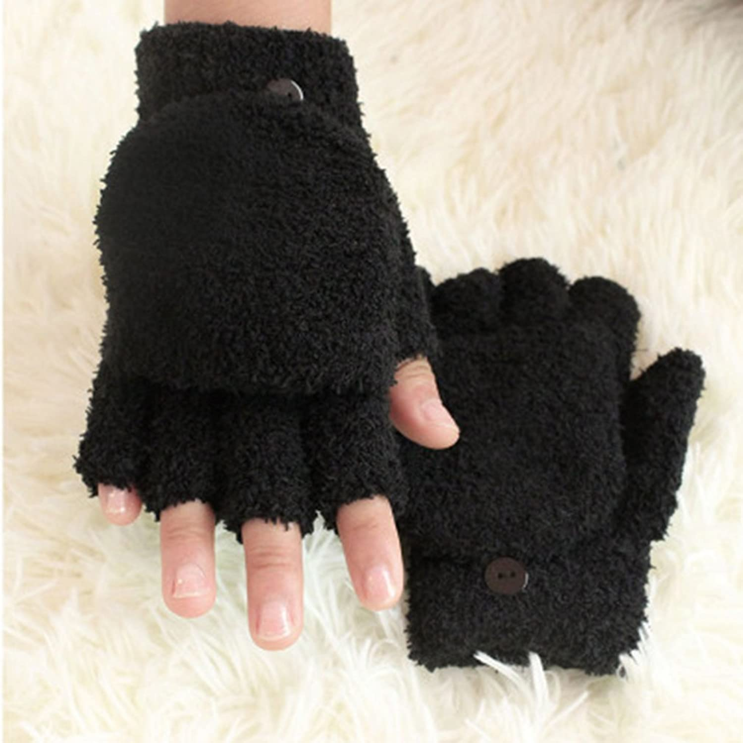 Women's Winter Fingerless Glov...