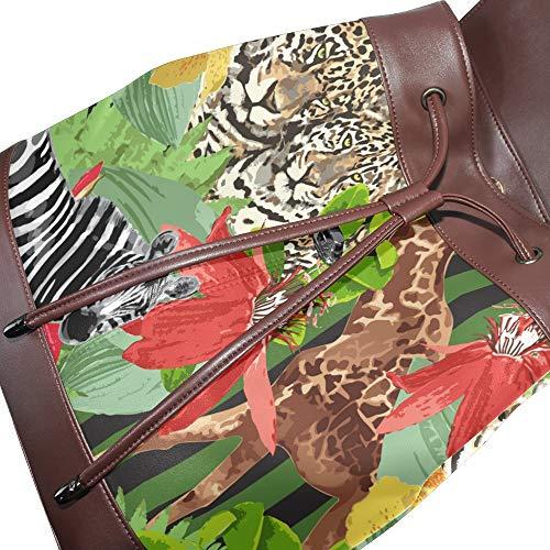 Mujer Talla Bolso Dragonswordlinsu Piel Mochila Única De Multicolor Para fcXO7cry
