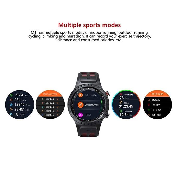 Reloj multifunción, SMA-M1 GPS Reloj deportivo Llamada Bluetooth Modo multideportivo Brújula Altitud, podómetro, monitoreo automático del sueño Reloj ...