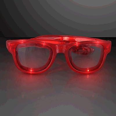 blinkee Red LED Nerd Glasses by: Toys & Games