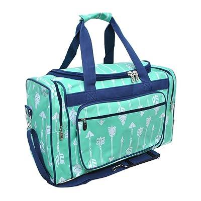 """Mint Arrow Print NGIL Canvas Carry on 20"""" Duffle Bag"""