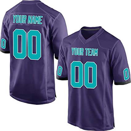 15e28e7e2 QimeiJer Custom Mesh Jersey-Make Your Own Jerseys-Personalized Team Jerseys  Name Number Aqua
