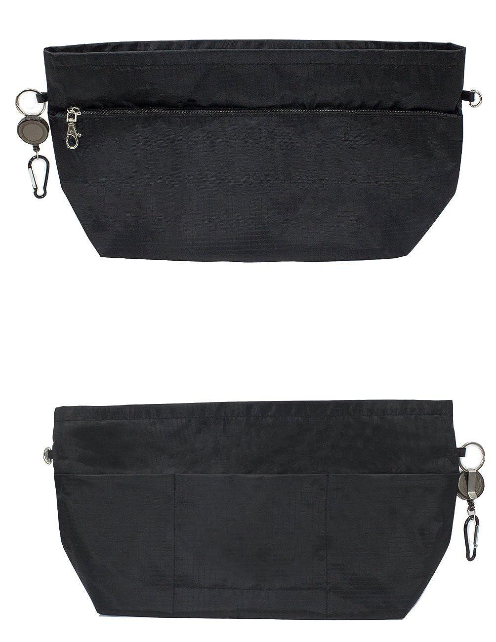 b730ef5e3857 Dahlia Women s Purse Organizer - Convenient Insert for Tote - Black at  Amazon Women s Clothing store