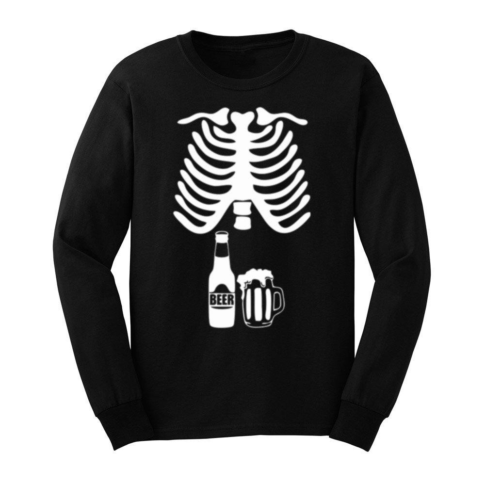 Loo Show S Halloween Skeleton Beer Belly Xray Funny T Shirts Tee