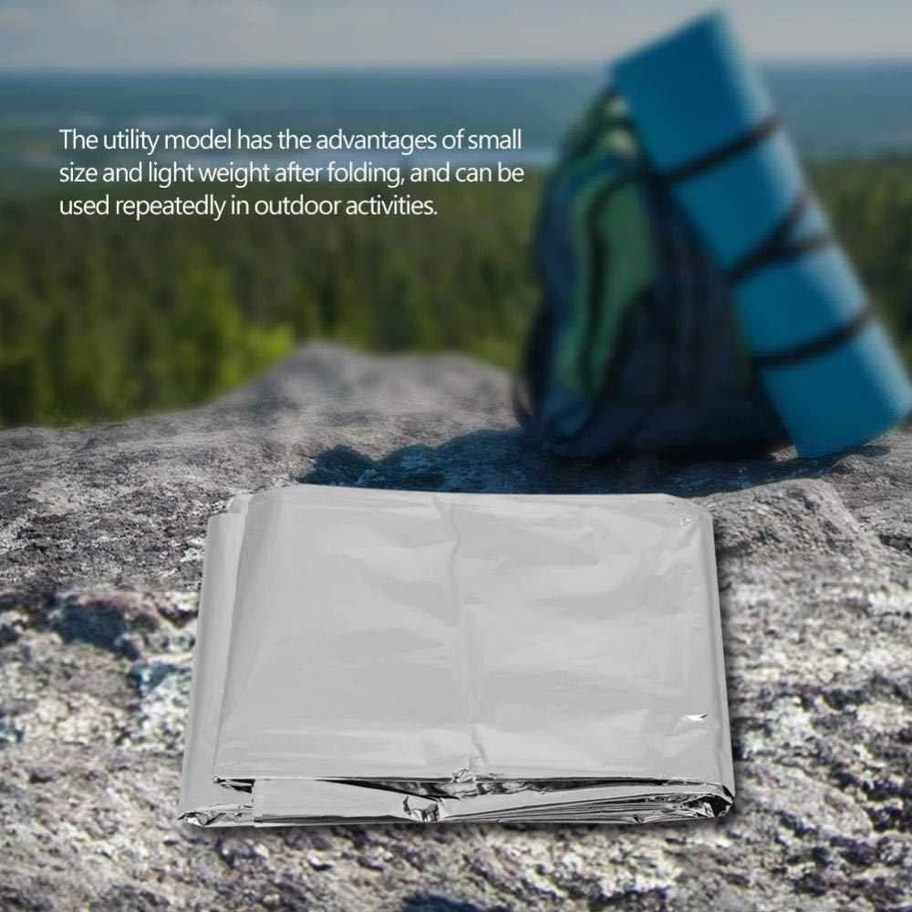 Alomejor Tienda t/érmica Mantas de Emergencia Camping Impermeable Manta Supervivencia al Aire Libre para Supervivencia Senderismo Emergencia