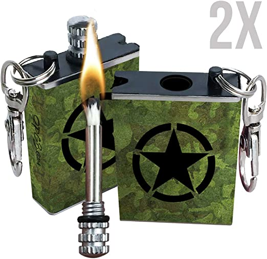 Army Fire Steel Magnesium Fire Starter Campfire Gas Stove Barbecue Lighting !
