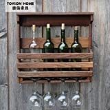 LDP-Wine Rack Wall wall hanging wooden Wine Rack Wall Wine Racks creative wall bracket