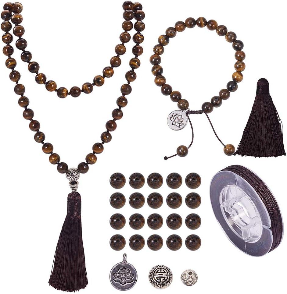 Women Macrame Adjustable Spiritual Natural Golden Tiger Eye Beads Shamballa Gift Idea Anniversary Mala Yoga Beaded Bracelet for Men/'s