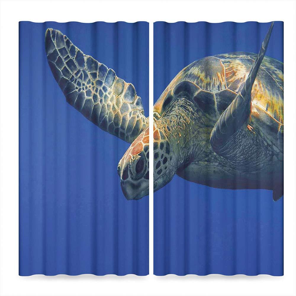 f8f63e21 Amazon.com: Turtle Window Curtains Blackout,Close Up Photo of Green Turtle  at Sipadan Borneo Malaysia Cute Animal Under the Sea,Window Drapes 2 Panel  Set ...