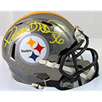 $185 » Jerome Bettis Autographed Pittsburgh Steelers Chrome Mini Helmet - Beckett W Auth Yellow