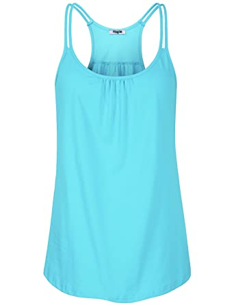 c149115d0490dd Amazon.com  Hibelle Womens Scoop Neck Cute Racerback Yoga Workout Tank Top   Clothing