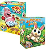 Bundle Includes 2 Items - Pop the Pig Game — New and Improved — Belly-Busting Fun as You Feed Him Burgers and Watch His Belly Grow and Jumping Jack — Pull Out a Carrot and Watch Jack Jump Game