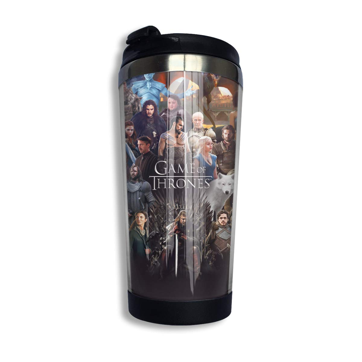 Game-of-thrones Daenerys And Dragons Stainless Steel Curve Coffee Cup Travel Mug