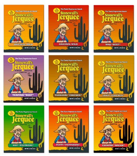 Stonewall's Jerquee Variety Pack - 1 of Each Flavor - 1.5 Oz. Packets - Pack of 9