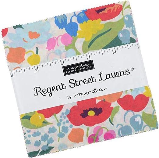 Regent Street Lawns Charm Pack by Moda; Cuadrados de tela ...