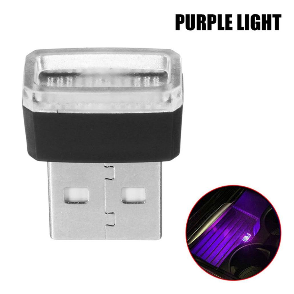 Glumes USB Led Light, Mini Wireless Car Interior Lighting Atmosphere Light Accessory Universal Ambient Lamps for Bedroom,Car Interior Decoration, Camping, Party,Holiday (Purple)