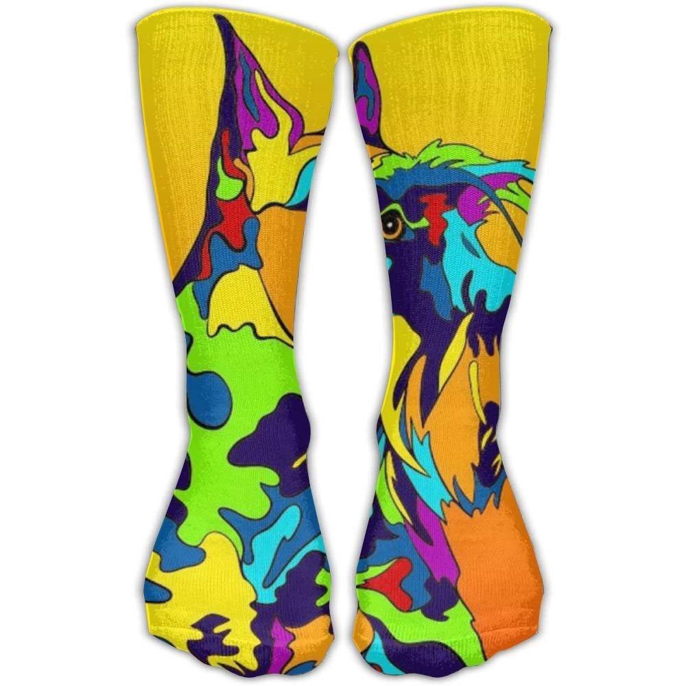 Nifdhkw Calcetines de media pantorrilla, multicolor, diseño de ...