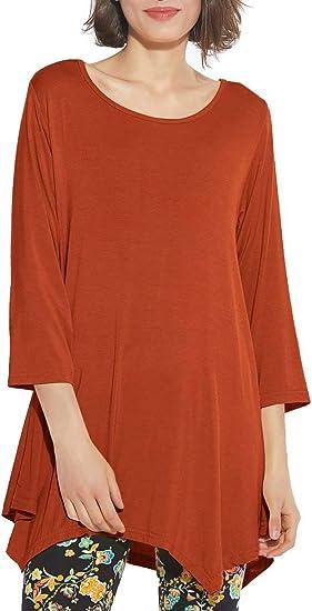 BELAROI Women 3//4 Sleeve Swing Tunic Tops Plus Size T Shirt Flattering Blouse for Leggings
