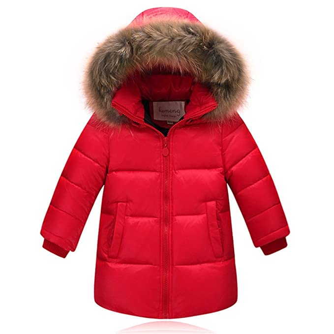 1611baf5e Winter Colorful Down Jacket With Fur Hood For Baby Boys In The Long ...