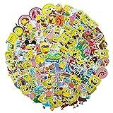 100 PCS Spongebob Squarepants Stickers Cartoon Waterproof Stickers Car Laptop Helmet Luggage Vintage Skateboard Wall Decor Gift for Kids