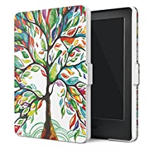 "MoKo Case for Kindle E-reader (8th Generation 2016) - The Thinnest and Lightest SmartShell Cover with Auto Wake/Sleep for Amazon Kindle (6"" Display, 8th Gen 2016 Release), Lucky TREE"
