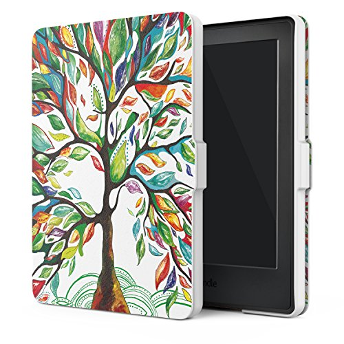 MoKo Case for Kindle E-reader (8th Generation 2016) - The Thinnest and Lightest  Cover with Auto Wake/Sleep for Amazon Kindle (Display, 8th Gen 2016 Release), Lucky TREE