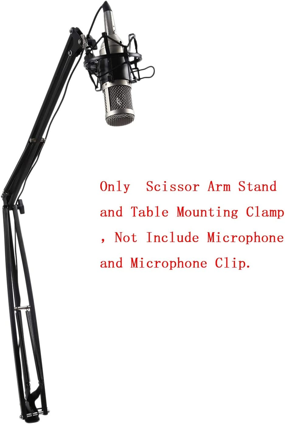 SNOWINSPRING NB39 Microphone Scissor Arm Stand 100Cm High Table Top Boom Mic Suspension Mount for Blue Pro USB Microphone Holder