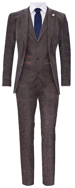 Traje Clásico de Tweed Peaky Blinders para Hombre, 3 Piezas ...