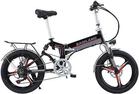 YUNYIHUI Bicicleta Plegable de 20 Pulgadas, Shimano 21 Speed Gear ...