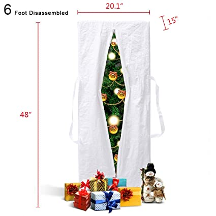 Amazon Com White Square Christmas Tree Storage Bag Upright Deluxe