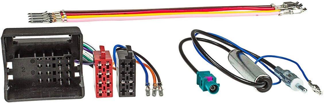 Tomzz Audio 7000 002 Radio Adapter Kabel Quadlock Auf Iso Universal Steckbare Stromversorgung Antennenadapter Mit Phantomeinspeisung