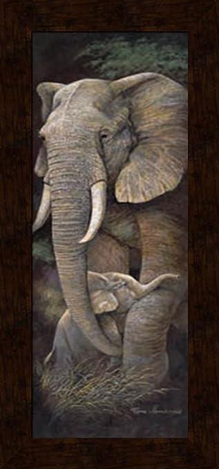 amazon com 12x36 elephant protective care artist ruane manning