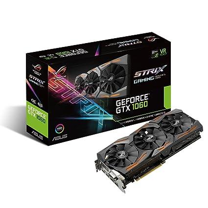 1060 Graphics Card >> Amazon Com Asus Geforce Gtx 1060 6gb Rog Strix Vr Ready Hdmi 2 0 Dp