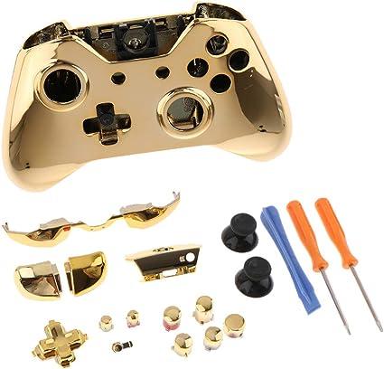 Kit de Botones Cromados para Controlador de Microsoft Xbox One Elite + Funda Protectora de Reemplazo + Destornillador: Amazon.es: Electrónica