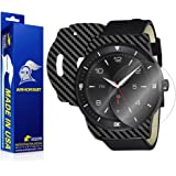 ArmorSuit MilitaryShield - LG G Watch R Screen Protector + Black Carbon Fiber Full Body Skin Protector / Front Anti-Bubble Ultra HD - Extreme Clarity & Touch Responsive Shield with Lifetime Free Replacements - Retail Packaging