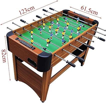ZOUJUN Mesa de futbolín, Competencia Cuadro de Juego de fútbol de tamaño Fútbol Arcade for Adultos, niños, Sala de Juegos Cubierta Deporte Juegos Competición Deportes Juegos Noche Familiar 122 x 61 x: