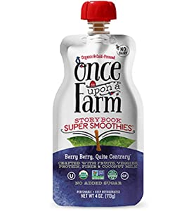 Once Upon A Farm Usda Organic Berry Quite Contrary Smoothie, 4 Ounce (pack Of 8)